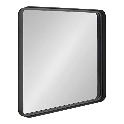 Kate and Laurel Armenta Modern Square Metal Framed Wall Mirror, 28 x -