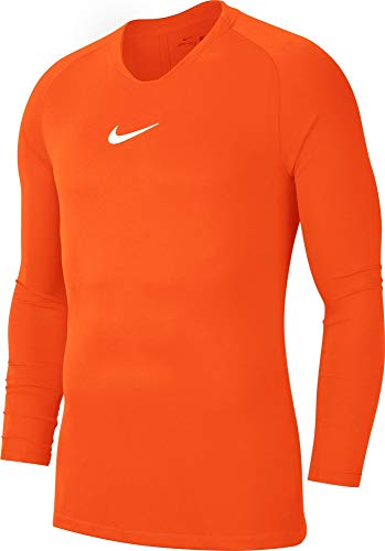 Nike Kinder Park First Layer Jersey LS Trikot, Safety orange/White, M