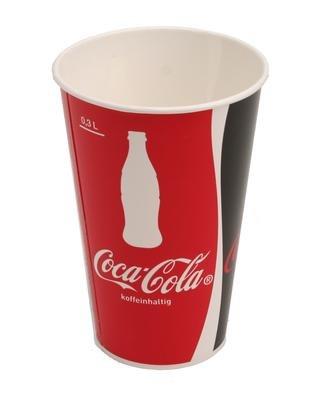300 Pappbecher Coca-Cola© 0,3l Trinkbecher Colabecher