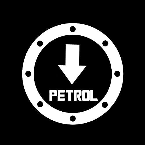 WSWZB 20cm x 20cm Divertido gasolina Pegatinas de coche de combustible Coche Motocicleta Accesorios exteriores Vinilo Calcomanías (Color Name : White)