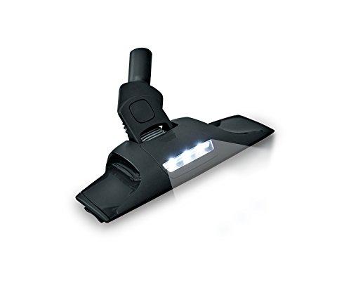 AEG AP350 SpeedyClean Illumi mondstuk voor harde vloeren (mondstuk met LED-technologie, vlak en beweegbaar, 46 mm hoog, onder banken en meubels zuigen draaischarnier, 360 ° rondom zuigkracht) zwart