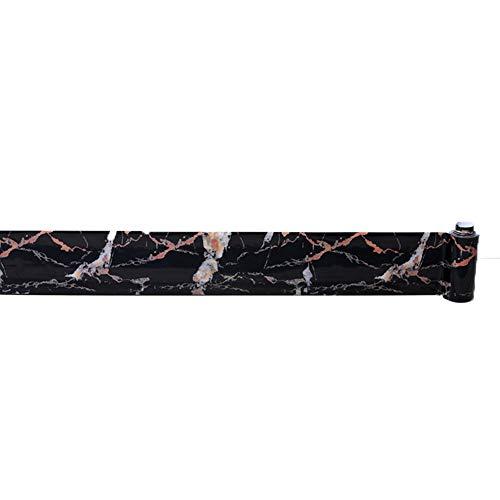 NBWS Meubelfolie, plakfolie, aftrekbehang, vinyl zelfklevend decorfolie raamsticker PVC sticker voor meubels keuken keukenkast - zwart en goud 15*100cm zwart