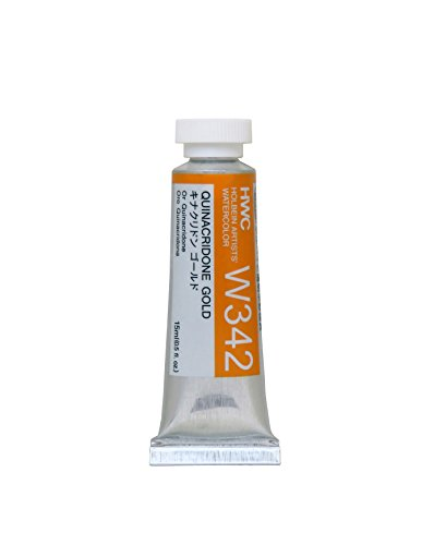 Holbein Artist's Watercolor 15ml Tube (Quinacridone Gold) W342