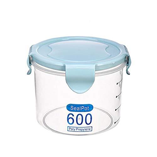 QiHaoHeji Caja de Almacenamiento de Cocina Selling Alimento Almacenaje Contenedor Preservación Plástico Pote Fresco Contenedor 600-1000 ml Conjunto de contenedores de Almacenamiento de alim