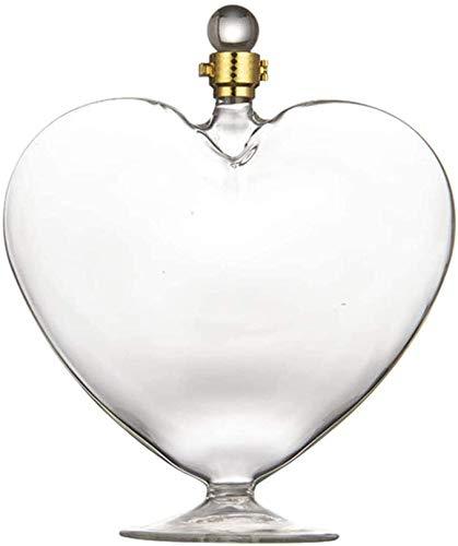Decantador De Corazón De 1000 Ml con Tapón Hermético para Las Mujeres, Whisky Vodka Bourbon Decanter Botella para Regalo, Hogar, Bar, Decoración De Fiesta