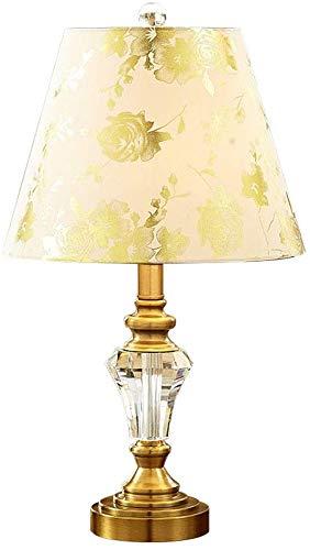 Crystal Tafellamp Massage-Olie Op Basis Van E27 Bronzen Klassieke Slaapkamer Lamp Bedlampje Decoratieve Koper Retro Bureaulamp,Buton D- Bouton Poussoir