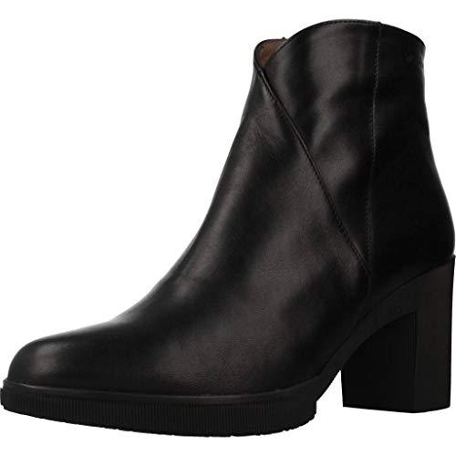 Wonders Damen Stiefelleten Boots M3727 Schwarz 35 EU