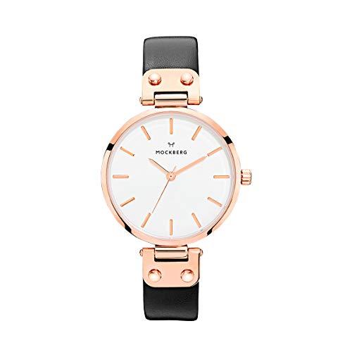 Mockberg Damen Digital Quarz Uhr mit Leder Armband MO1001