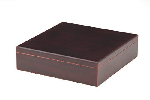 BigSmoke Humidor de Puros con tapa de madera, chapa de madera de cedro, humidificador, higrómetro y separadores - Caja de puros para principiantes y amantes de los puros - Para 30 puros - Marr