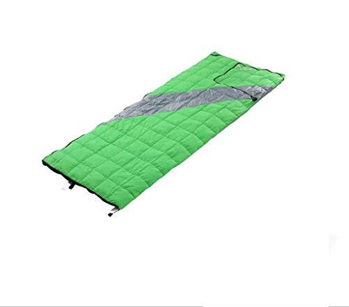 CATRP-Sac de couchage d'enveloppe extérieure, Remplissage de Canard Blanc Ultra-léger Convenant au Camping de randonnée Adulte (Color : Green)