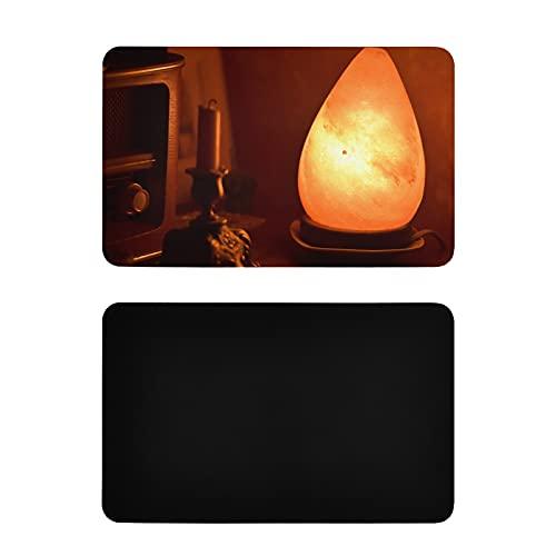 Imanes Divertidos Cuadrados Lámpara de Sal Saludable del Himalaya Imanes de Nevera de luz de Cama Vintage Imanes Personalizados de PVC para refrigerador Accesorios Divertidos de Cocina 4x2.5 Pulgadas
