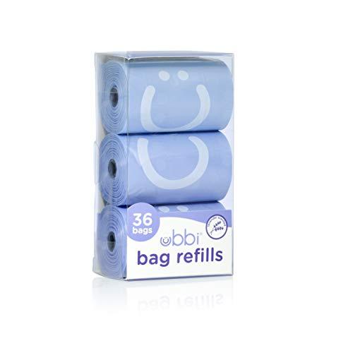 Ubbi Sacs de Recharge Parfum Lavande Pack Économique 1 Unité