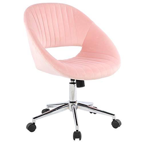 Omabeta Material de Oficina elevable Silla para Juegos Silla de Terciopelo Muebles domésticos giratorios(Pink)