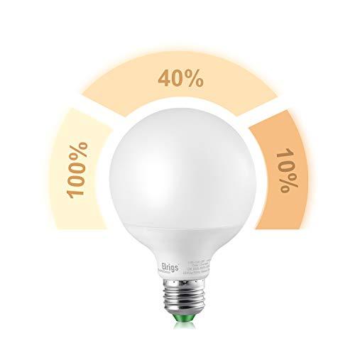 Elrigs 3-in-1 E27 Globe LED Lampe G95, Dimmen ohne Dimmer, 12W-4W-2W, Warmweiß(3000K), Szenenwechsel, 9,5x9,5x13.8cm, ersetzt 100W-40W-10W, 1100/350/150-Lumen