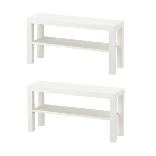 Ikea Lack TV-Bänke in weiß; (90x26cm); 2 Stück