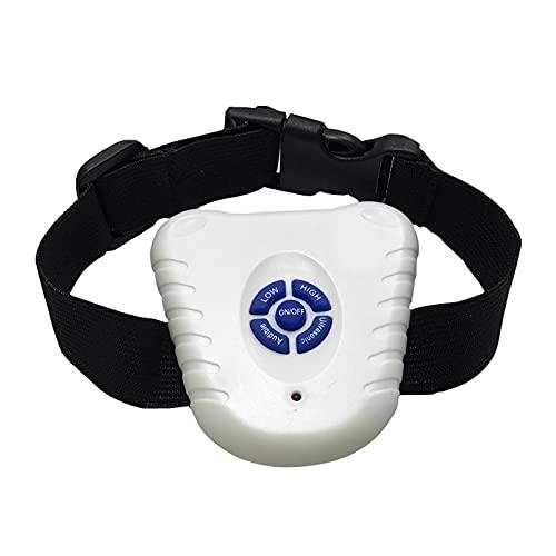 ZHIWE Collar de Adiestramiento Ultrasonido Impermeable Antiladridos Descargas Electrico Ajustable para Perros Pequeños Medianos y Grandes