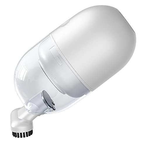KOLOSM Aspirador Coche Mini aspiradora inalámbrica pequeña Pantalla de Mano Interior de computadora de Mano Herramienta de Limpieza de Polvo de Escritorio portátil Clea de aspiradora (Color : White)