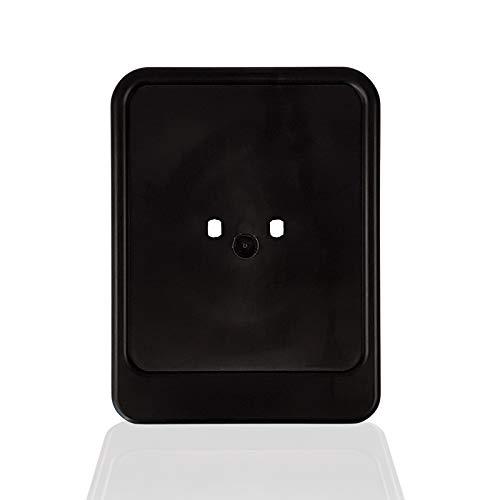 Nummernschildverstärker/Nummernschildhalter Roller Mofa Schwarz Kunststoff