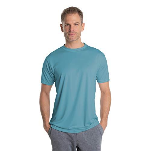 Vapor Apparel Herren Atmungsaktives UPF 50+ UV Sonnenschutz Kurzarm Funktions T-Shirt XX-L Hydro