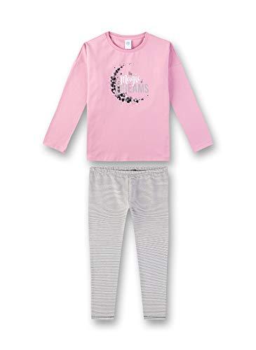 Sanetta Mädchen Pyjama Zweiteiliger Schlafanzug, Rosa (Rosewood 38085), (Herstellergröße: 128)