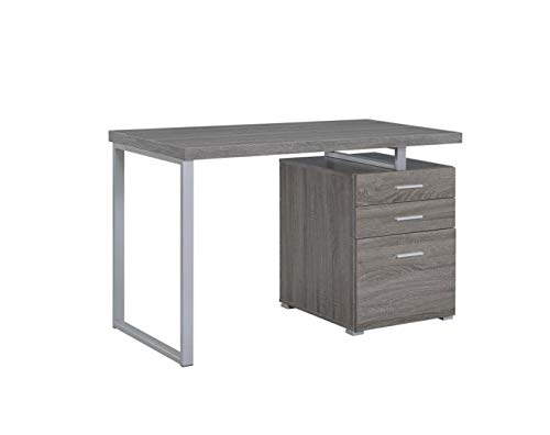 COASTER CO-800520 Desks, 23.5'D x 47.25'W x 30'H, Weathered Grey