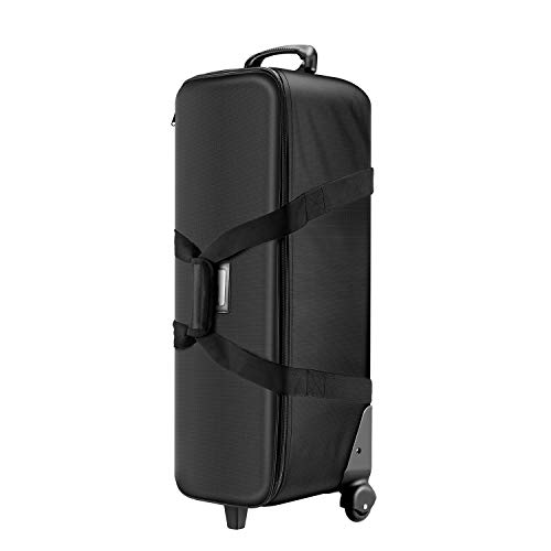 Neewer 32-Inch Camera Trolley Case Roller Bag: [32x11x11 Inches][3 Padded Partition][Easy-Glide Wheel][Durable 1680D PVC Cloth + Hard Plastic][Great Capacity] for Photo Studio Lighting Equipment