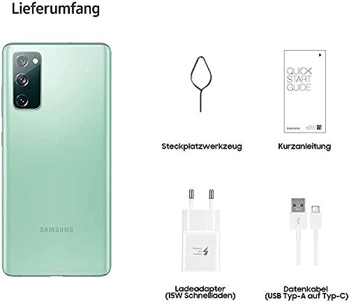 Samsung Galaxy S20 FE, Android Smartphone ohne Vertrag, 6,5 Zoll Super AMOLED Display, 4.500 mAh Akku, 128 GB/ 6 GB RAM, Handy in Grün inkl. 36 Monate Herstellergarantie [Exklusiv bei Amazon]
