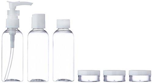 Travel Bottle Reiseflaschen Set 7-teilig mit Tasche