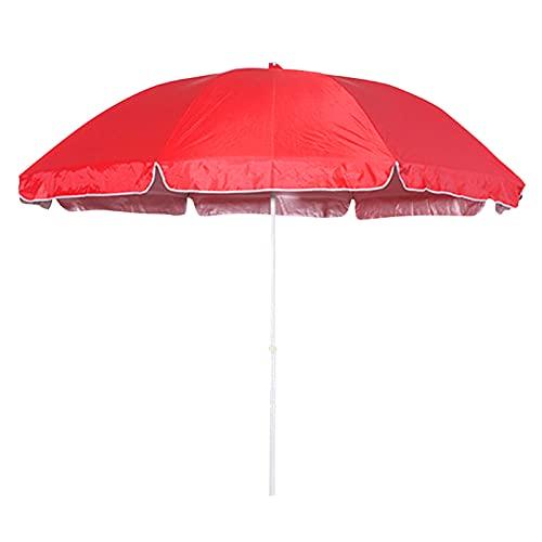Wsaman 2,4 M / 7,9 pie Sombrilla terraza,Parasol de Doble Juego, Sunny/Rainy Pesca Paraguas Fácil de Abrir Protección UV,para Jardín Playa Cafetería Piscina,Rojo