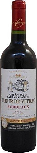 Château Haute Brande Fleur de Vitrac Bordeaux Rouge AOC Merlot 2016 Trocken (1 x 0.75 l)