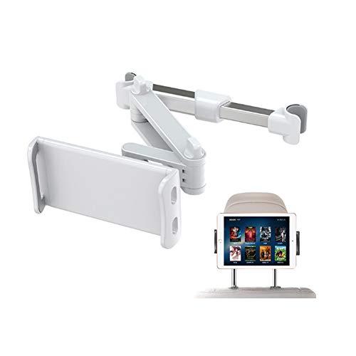 Soporte Reposacabezas Automóvil,Soporte Tableta Asiento de Automóvil,Soporte Universal para Tableta con Rotación 360 Grados para Teléfonos Inteligentes y Tabletas para Pantallas de 7-14 Pulgadas,Plata