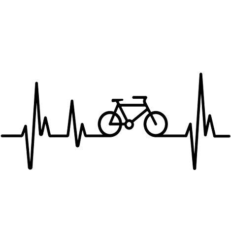 buXsbaum® Herren Unisex Kurzarm T-Shirt bedruckt Frequenz Cycle | Fahrrad bike Drahtesel | M black-red Schwarz - 2