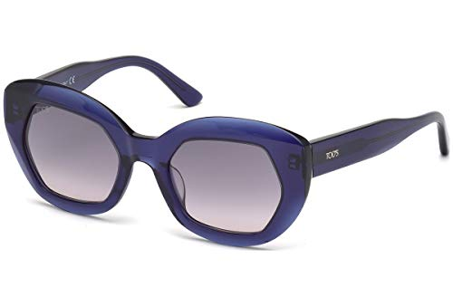 Tod's TODS Damen To0144-4992b Sonnenbrille, Blue/Other/Gradient Smoke, 49/20/140