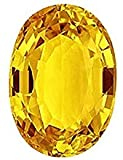 Yellow Sapphire Stone Original Certified Pukhraj Sapphire Gemstone Pukhraj Yellow Sapphire Natural Stone Product color may vary own photography image Certification is the Authenticity with this product