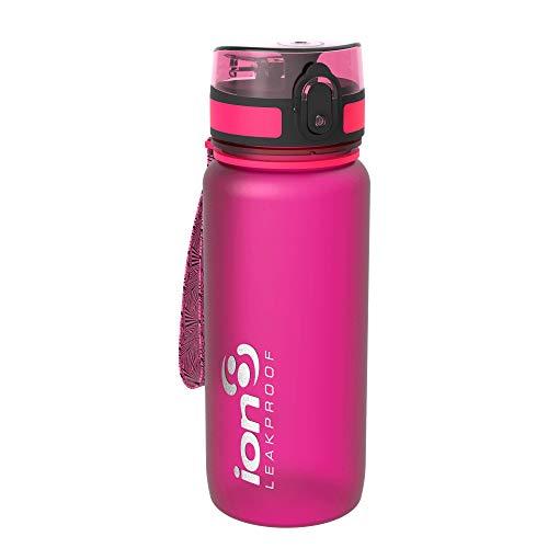 Ion8 auslaufsichere Trinkflasche Fahrrad, BPA frei, 750ml, Rosa