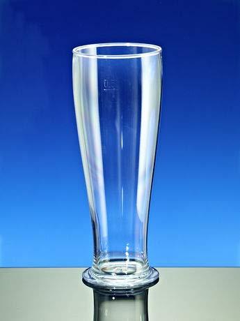 Cup-Service GmbH Mehrweg Weizenbierglas SAN glasklar bruchfest spülmaschinenfest dt. Fertigung 500ml 2 Stück