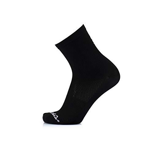 MB Wear Chaussettes Stelvio-Noir-S/M (35-40) Mixte Adulte, FR : M (Taille Fabricant