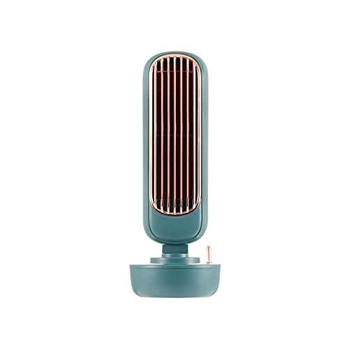 YUEWEIWEI Ventilador pequeño, Ventilador de Escritorio Vertical, Aerosol de enfriamiento Torre de Dos adentro, Ventilador, Ventilador de refrigeración para Oficina y hogar, Mini Ventilador portátil