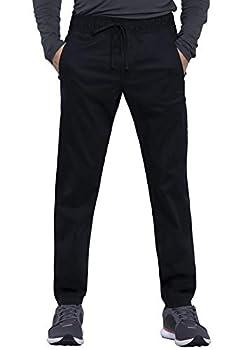 Cherokee Workwear Revolution Men Scrubs Pant Natural Rise Jogger WW012 M Black