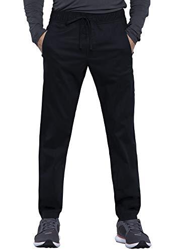 CHEROKEE Workwear WW Revolution Men's Men's Natural Rise Jogger, WW012, M, Black