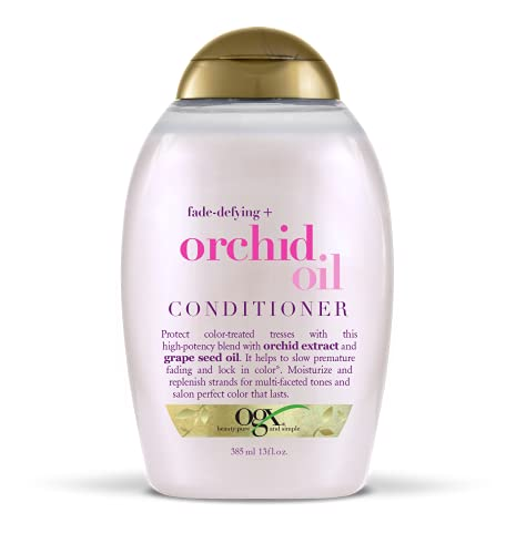 OGX Fade-Defying Orchid Oil Conditioner with UVA/UVB Sun Filters, 13 Ounces