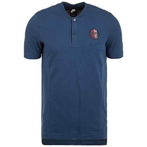 Nike Paris Saint-Germain Ts Men Fußball-Poloshirt für Herren M meeresblau (Mitternachtsblau meeresblau/Ölgrau/Mitternachtsblau meeresblau)