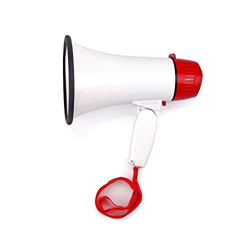 BIGTREE 30W Megaphone Bullhorn Siren Adjustable Speaker Volume Folding Loud...