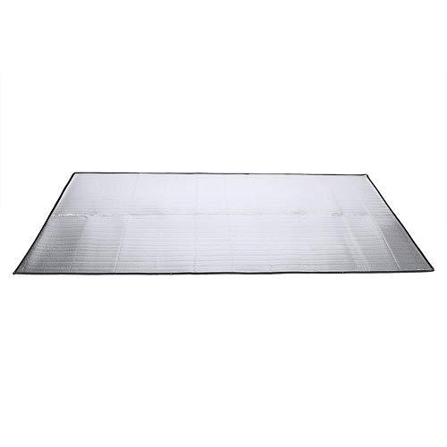 VGEBY1 Isomatte, Baby Schlafmatten Zeltmatte Zeltisomatte Falten doppelseitig feuchtigkeitsbeständiges Aluminium Camping Pad für Outdoor Camping Wandern Reise Picknick (1.5 * 2M)