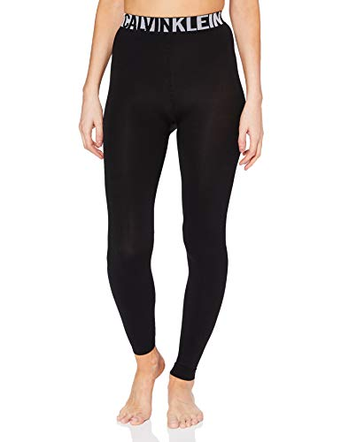 Calvin Klein Legging 1P Legwear Logo Lissy Socks Calcetines, Negro, L para Mujer