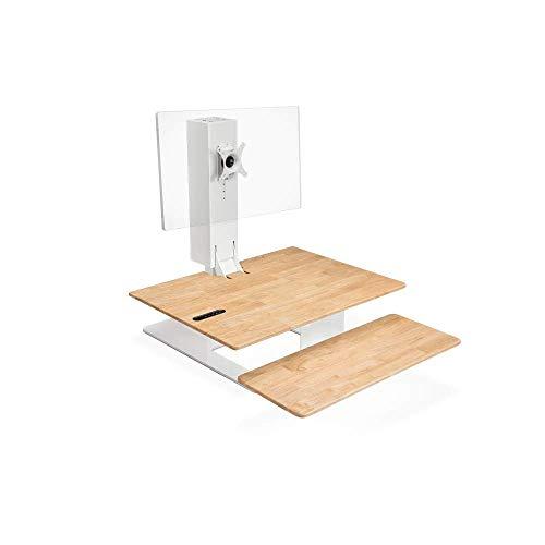 UPLIFT Desk E7 電動スタンディングデスクコンバーター(ホワイト) Single Monitor
