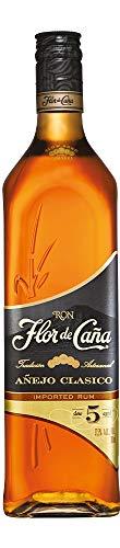 Flor de caña - 5 ans Anejo Classico - Rhum de Mélasse - 37,5% Alcool - Origine : Nicaragua - Bouteille de 70 cl