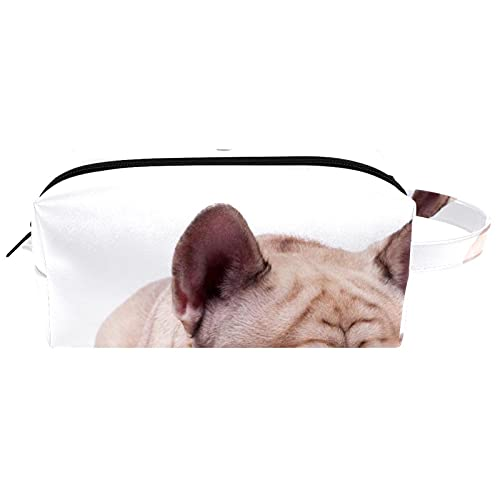 Neceser de Maquillaje Estuche Escolar para Cosméticos Bolsa de Aseo Grande,Perro Bulldog