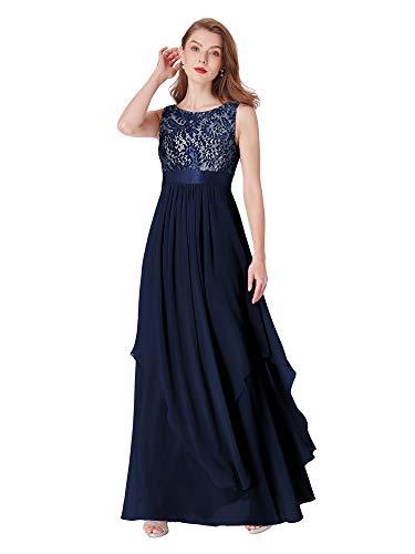 Ever-Pretty Womens Sleeveless Floor Length Evening Dress 12 US Navy Blue