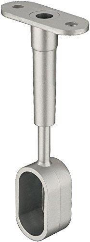 Möbelrohr Schrankrohrlager Mittelträger-Endstück für Kleiderstange OVAL | Metall silber lackiert | Schrankrohrhalter für Ovalstange 30 x 15 mm | Möbelbeschläge von GedoTec®